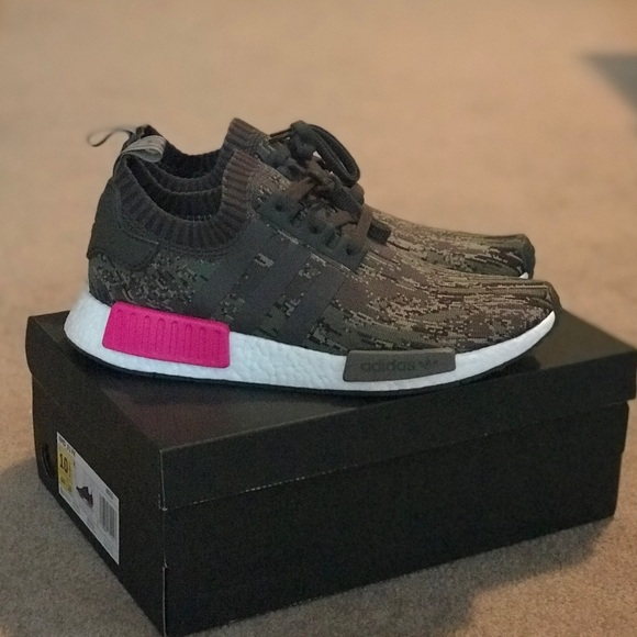 908afcd32de69 adidas Shoes | Mens Nmd Camo And Pink 105 New | Poshmark